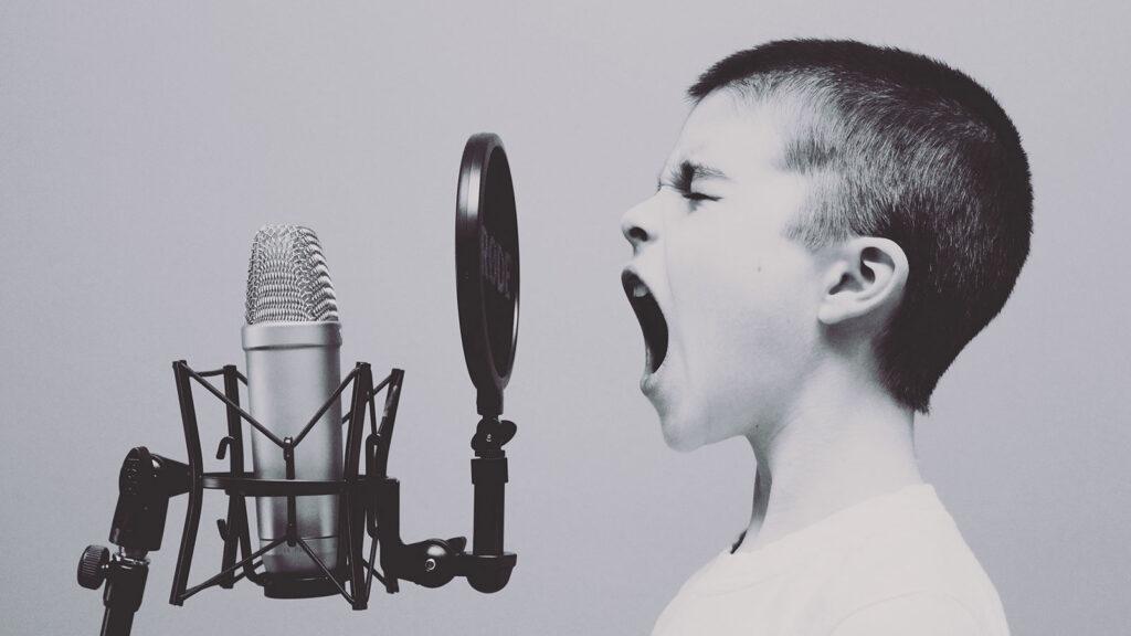 Pam Bartlett, Alexander Technique Kid yelling into microphone