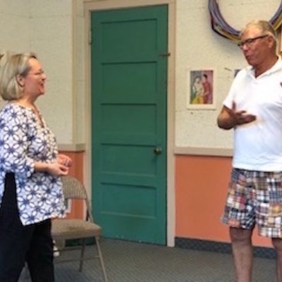 Pam Bartlett, Alexander Technique talking to a man